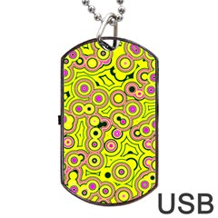 Bubble Fun 17d Dog Tag Usb Flash (two Sides) by MoreColorsinLife