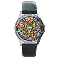 Bubble Fun 17a Round Metal Watch by MoreColorsinLife