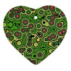 Bubble Fun 17c Ornament (heart) by MoreColorsinLife