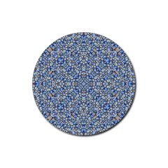 Geometric Luxury Ornate Rubber Coaster (round)  by dflcprints