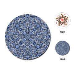 Geometric Luxury Ornate Playing Cards (round)  by dflcprints
