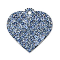 Geometric Luxury Ornate Dog Tag Heart (one Side) by dflcprints