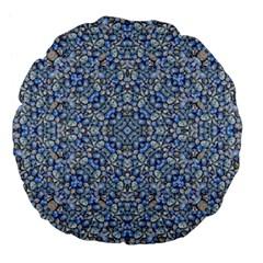 Geometric Luxury Ornate Large 18  Premium Flano Round Cushions by dflcprints