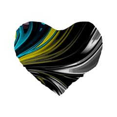 Colors Standard 16  Premium Flano Heart Shape Cushions by ValentinaDesign