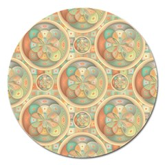 Complex Geometric Pattern Magnet 5  (round) by linceazul