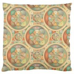 Complex Geometric Pattern Large Cushion Case (one Side) by linceazul