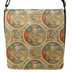 Complex Geometric Pattern Flap Messenger Bag (s) by linceazul