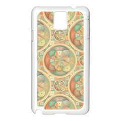 Complex Geometric Pattern Samsung Galaxy Note 3 N9005 Case (white) by linceazul