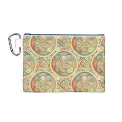 Complex Geometric Pattern Canvas Cosmetic Bag (m) by linceazul