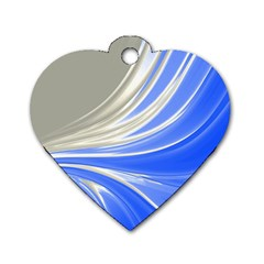 Colors Dog Tag Heart (one Side) by ValentinaDesign