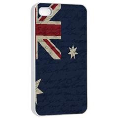 Vintage Australian Flag Apple Iphone 4/4s Seamless Case (white) by ValentinaDesign