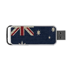 Vintage Australian Flag Portable Usb Flash (two Sides) by ValentinaDesign