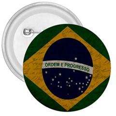 Vintage Flag   Brasil 3  Buttons by ValentinaDesign