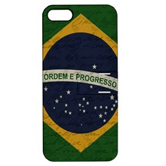 Vintage Flag   Brasil Apple Iphone 5 Hardshell Case With Stand by ValentinaDesign