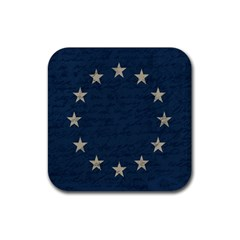 Vintage Flag   Eu Rubber Coaster (square)  by ValentinaDesign