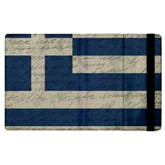 Vintage Flag   Greece Apple Ipad 2 Flip Case by ValentinaDesign