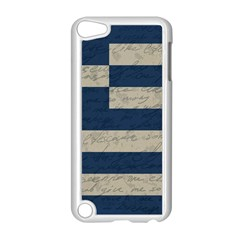 Vintage Flag   Greece Apple Ipod Touch 5 Case (white) by ValentinaDesign