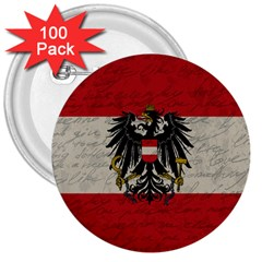 Vintage Flag   Austria 3  Buttons (100 Pack)  by ValentinaDesign