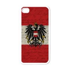 Vintage Flag   Austria Apple Iphone 4 Case (white) by ValentinaDesign