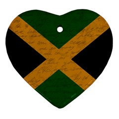 Vintage Flag   Jamaica Ornament (heart) by ValentinaDesign