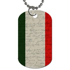 Vintage Flag   Italia Dog Tag (two Sides) by ValentinaDesign