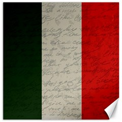 Vintage Flag   Italia Canvas 16  X 16   by ValentinaDesign