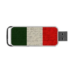 Vintage Flag   Italia Portable Usb Flash (two Sides) by ValentinaDesign