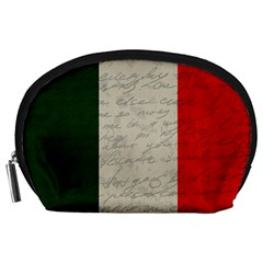 Vintage Flag   Italia Accessory Pouches (large)  by ValentinaDesign