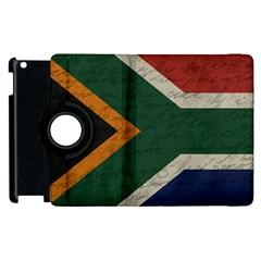Vintage Flag   South Africa Apple Ipad 2 Flip 360 Case by ValentinaDesign