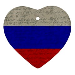 Vintage Flag   Russia Ornament (heart) by ValentinaDesign