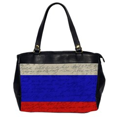 Vintage Flag   Russia Office Handbags (2 Sides)  by ValentinaDesign