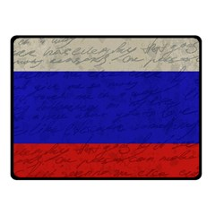 Vintage Flag   Russia Fleece Blanket (small) by ValentinaDesign