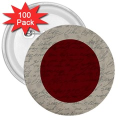 Vintage Flag   Japan 3  Buttons (100 Pack)  by ValentinaDesign