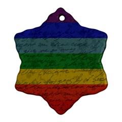 Vintage Flag   Pride Ornament (snowflake) by ValentinaDesign