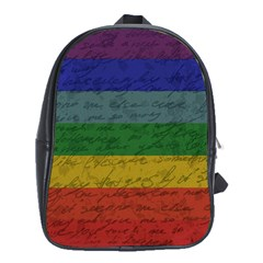 Vintage Flag   Pride School Bags (xl)  by ValentinaDesign