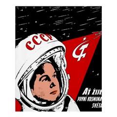 Valentina Tereshkova Shower Curtain 60  X 72  (medium)  by Valentinaart