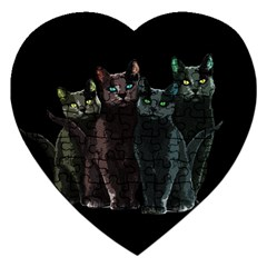 Cats Jigsaw Puzzle (heart) by Valentinaart