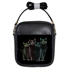 Cats Girls Sling Bags by Valentinaart