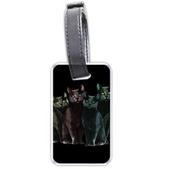 Cats Luggage Tags (one Side)  by Valentinaart