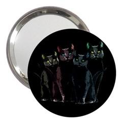 Cats 3  Handbag Mirrors by Valentinaart