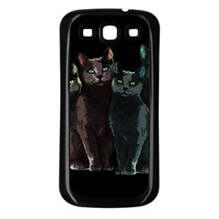 Cats Samsung Galaxy S3 Back Case (black) by Valentinaart