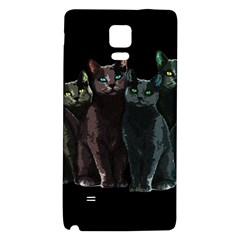 Cats Galaxy Note 4 Back Case by Valentinaart