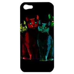 Cats Apple Iphone 5 Hardshell Case by Valentinaart