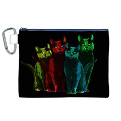 Cats Canvas Cosmetic Bag (xl) by Valentinaart