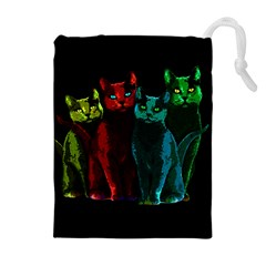 Cats Drawstring Pouches (extra Large) by Valentinaart