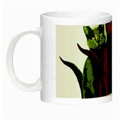 Cats Night Luminous Mugs by Valentinaart