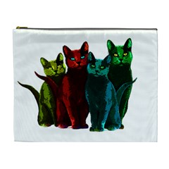 Cats Cosmetic Bag (xl) by Valentinaart