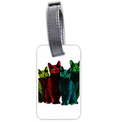 Cats Luggage Tags (two Sides) by Valentinaart