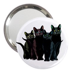 Cats 3  Handbag Mirrors by Valentinaart