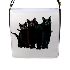Cats Flap Messenger Bag (l)  by Valentinaart